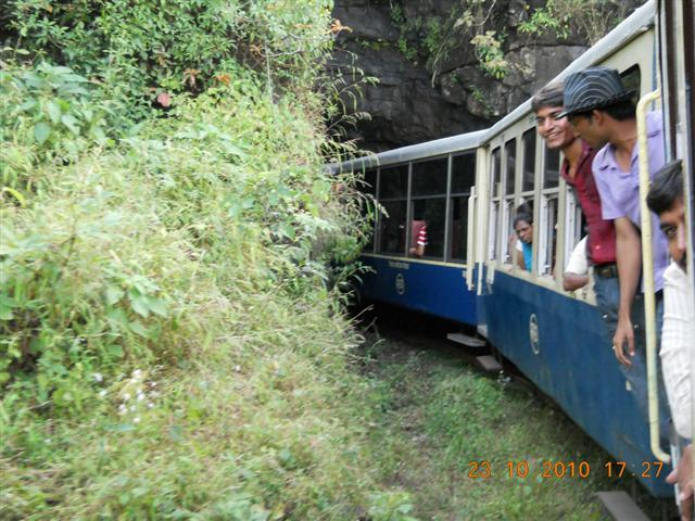 Toy Train Kissing The Tunnel