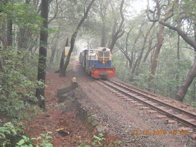 Front View of Matheran Toy Train
