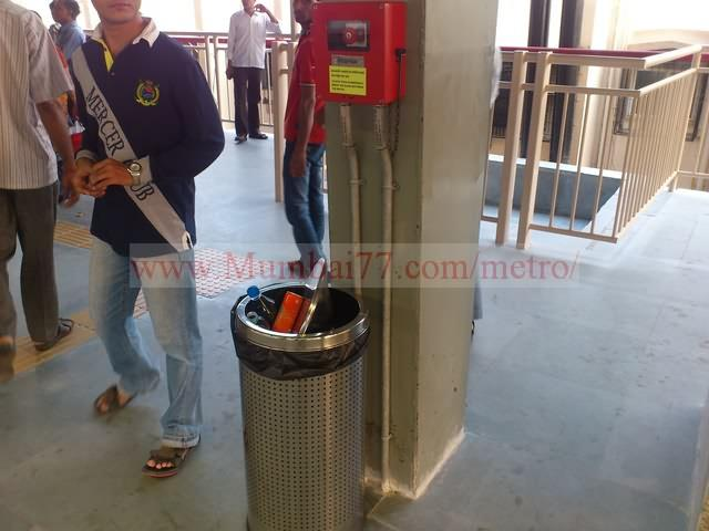 Dustbins at Metro Station