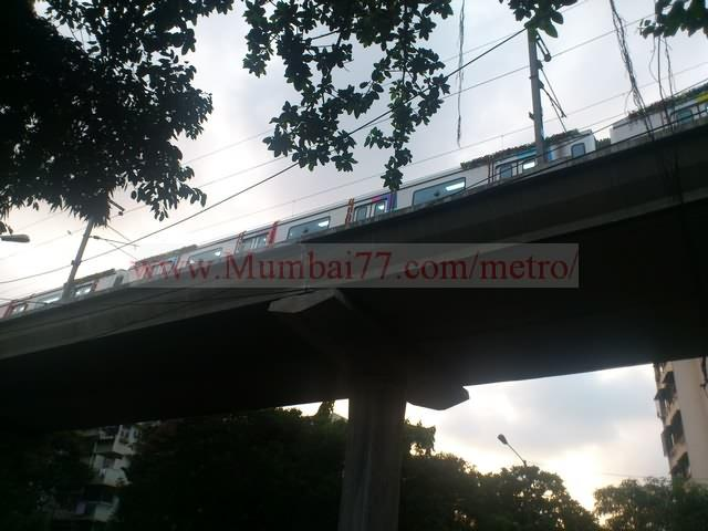 Elevated View Of Metro Train Moving