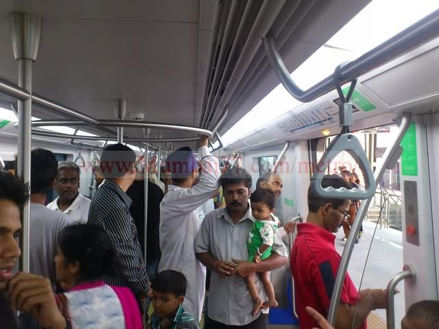 People Inside Metro Train First Ride