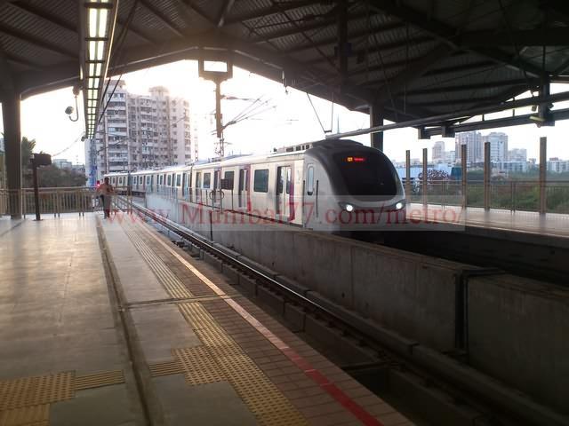 Train Entering Metro Station