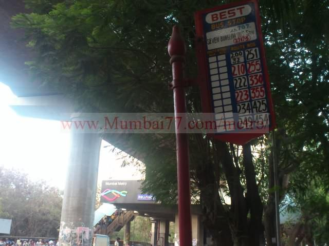 Bus Stand Near Metro Station