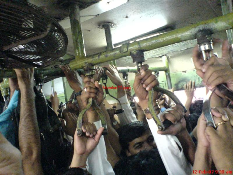 Inside View of Crowded Local Train