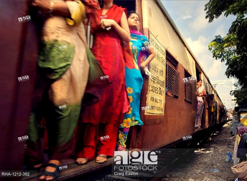 Ladies Commuters on Footboard Travel
