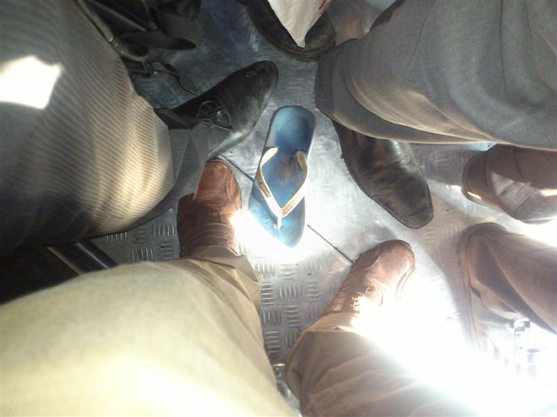Footwear Lost in Crowded Train