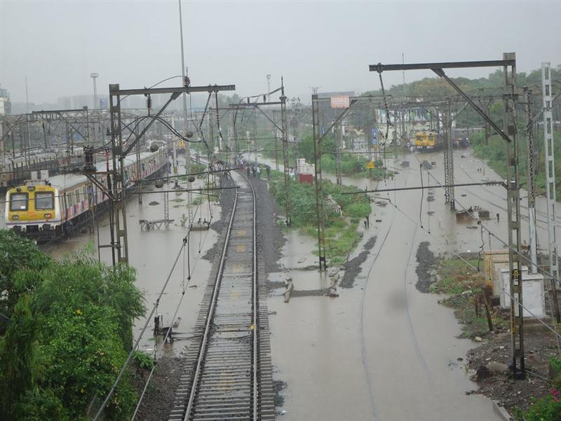 Railway Tracks View in Monsoon