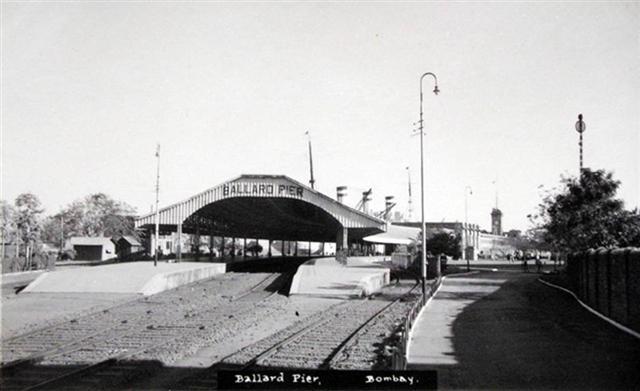 Ballard Pier Black and White Old Picture