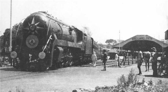 Steam Engine at Old Ballard Pier Station Bombay