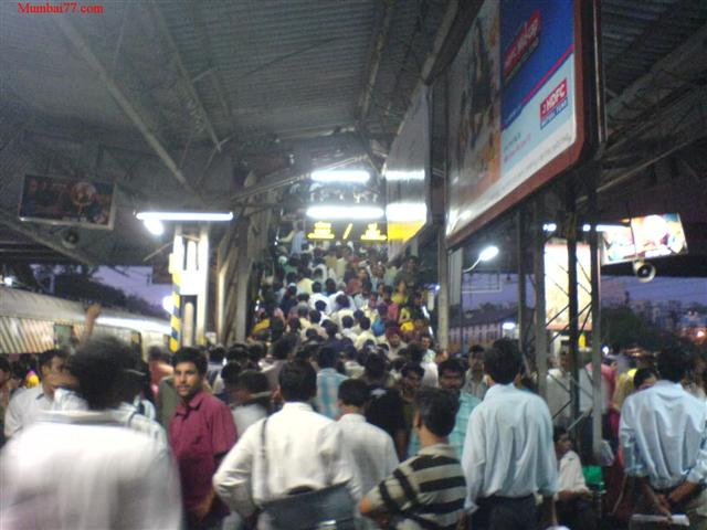 Crowded Andheri Station