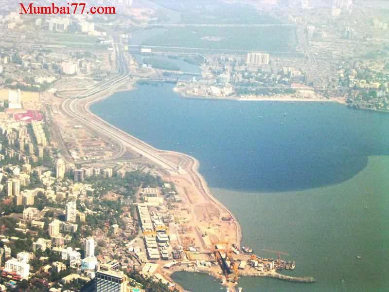 Aerial Bandra Reclamation Under Construction Then