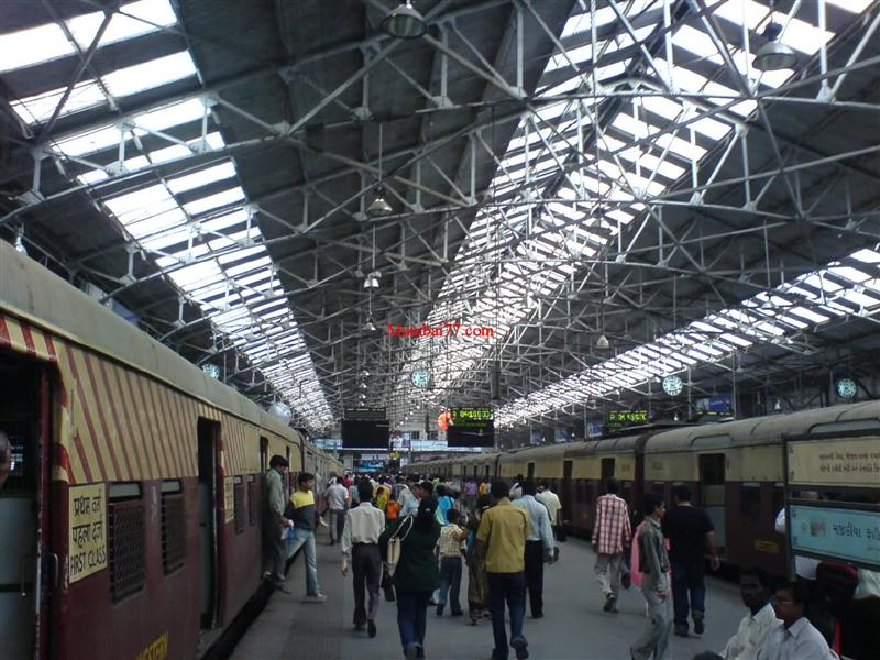Churchgate Railway Station With Old Trains