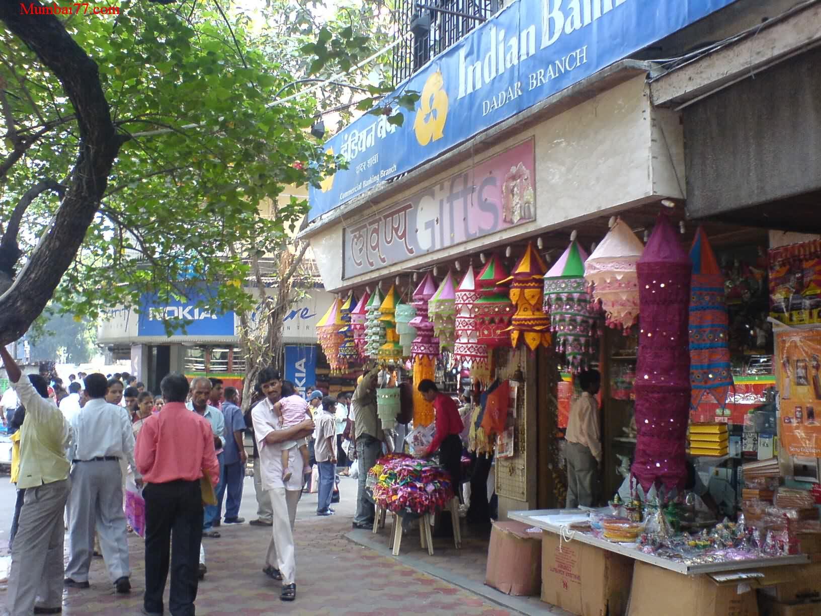 A Shop with Diwali Kandil's (Lanterns).