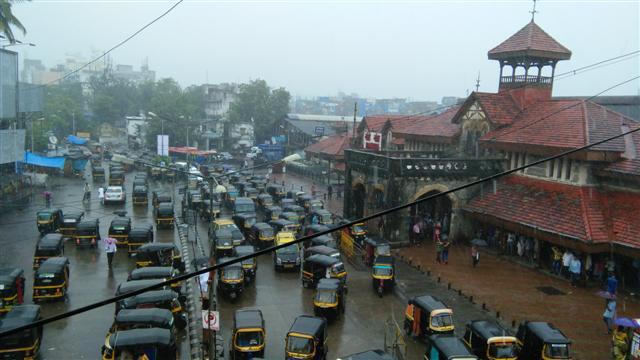 Bandra Station On a Rainy Day