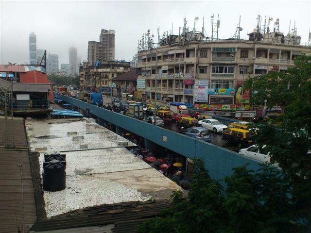 A View of Dadar Station Bridge