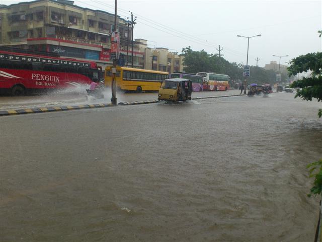 Flooded Streets of Mumbai City