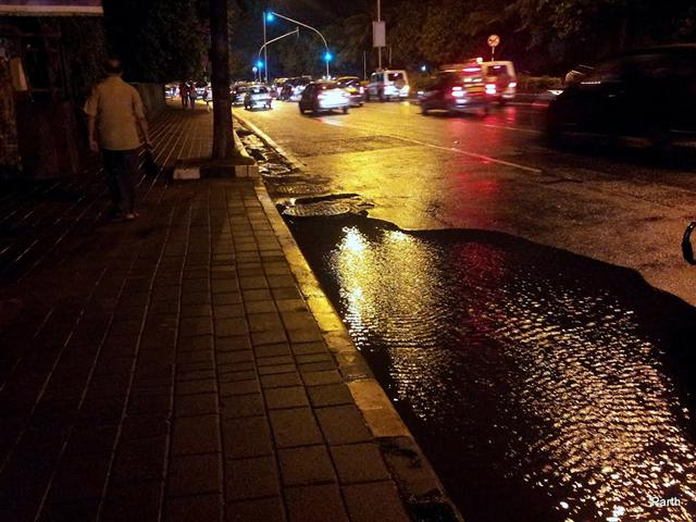 Mumbai Streets Night View Post Rain