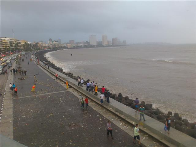 Nariman Point During Monsoon
