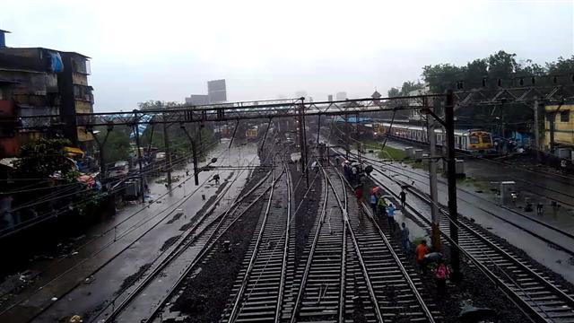 Beautiful View of Mumbai Railway Tracks