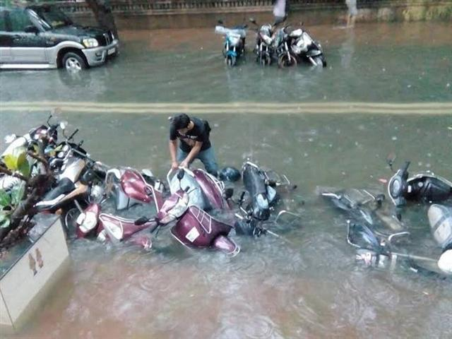 Vehicles Flooded
