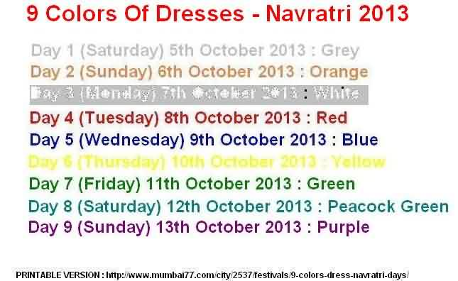9 Dress Colors 2013