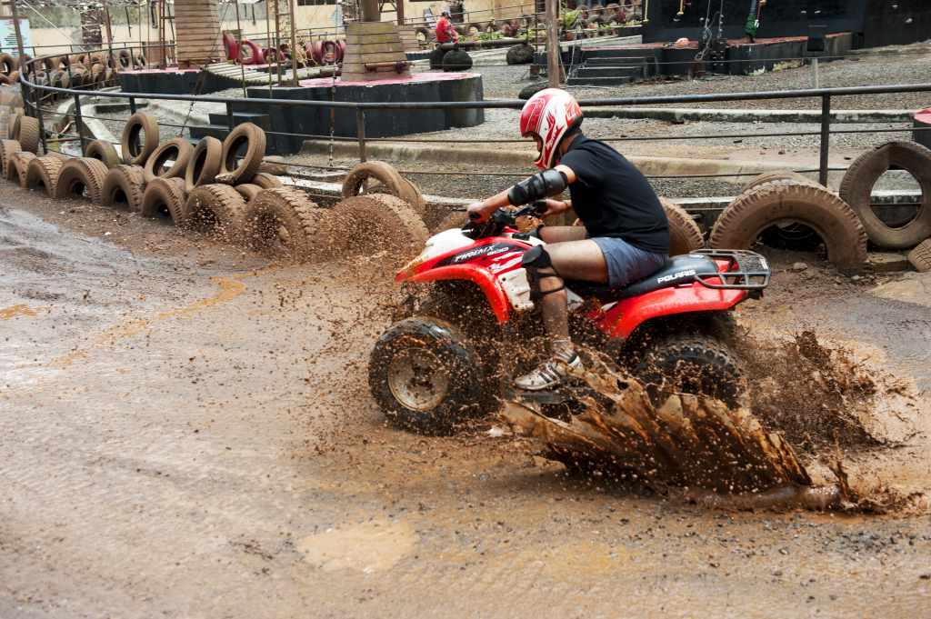 ATV Rides Dirt Biking
