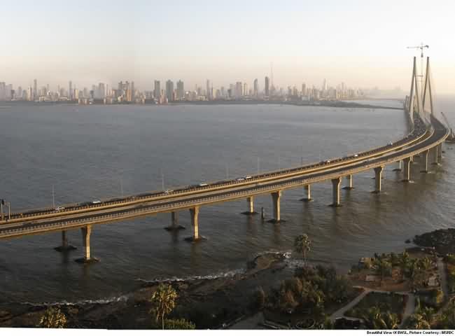 Aerial View Of Bandra Worli Sea Link