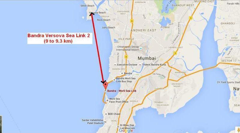 Bandra Versova Sea Link Map