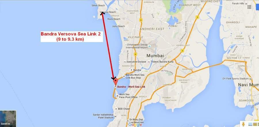 Versova Bandra Sea Link Map