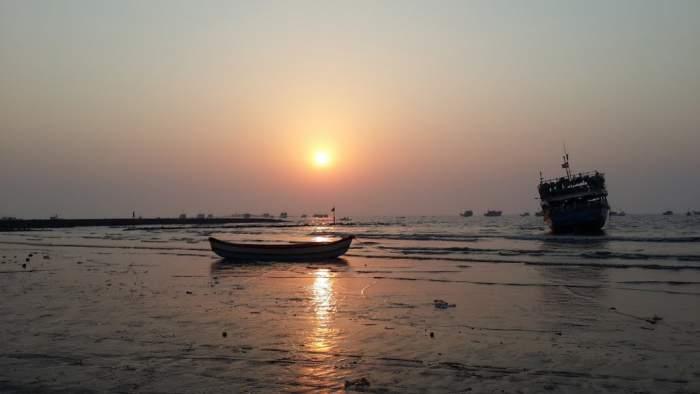 Beach Water and Sunset