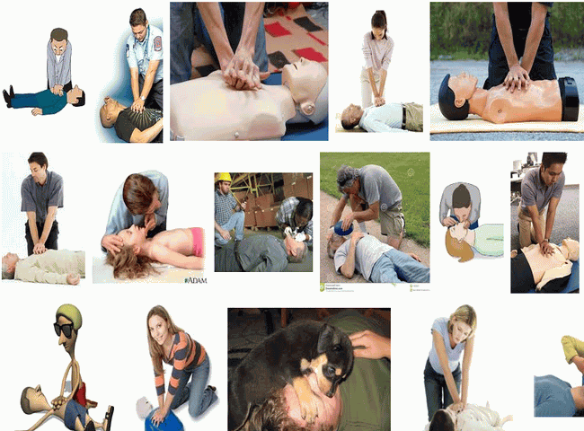 Giving CPR Help to Victim