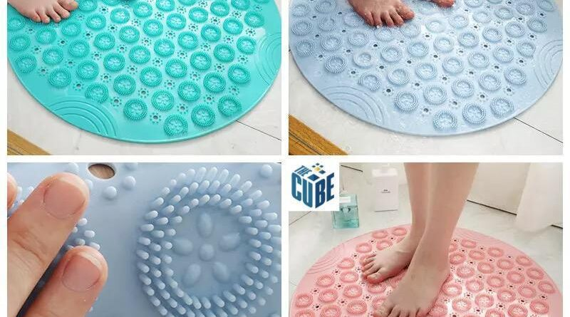 CUBE Silicone Shower Mat For Bathroom