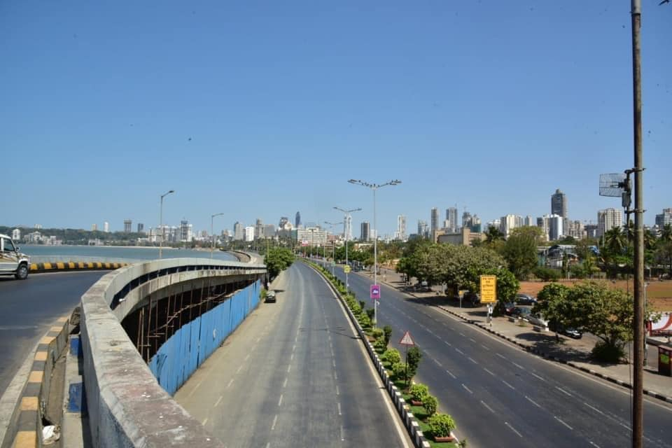 Charni Road Flyover March 2020