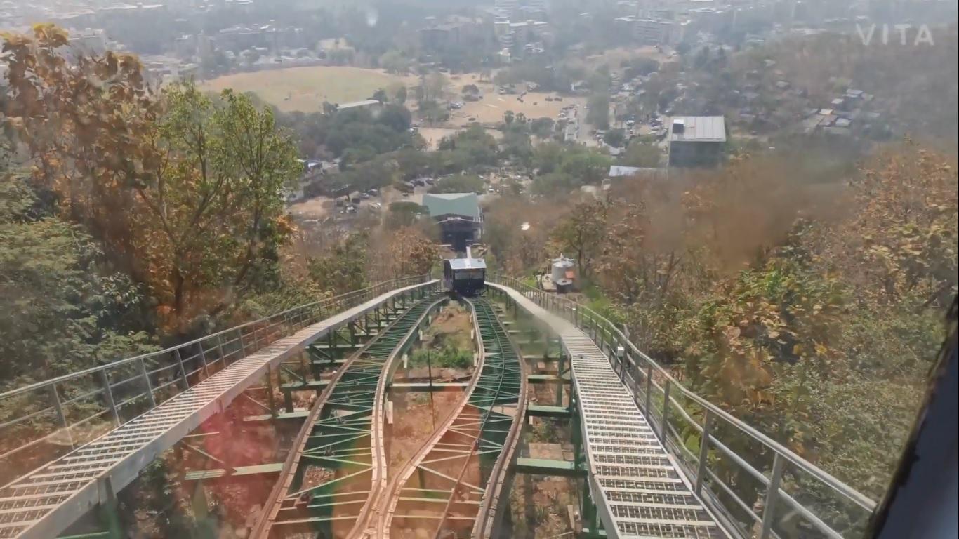 Virar City View From Ropeway Train