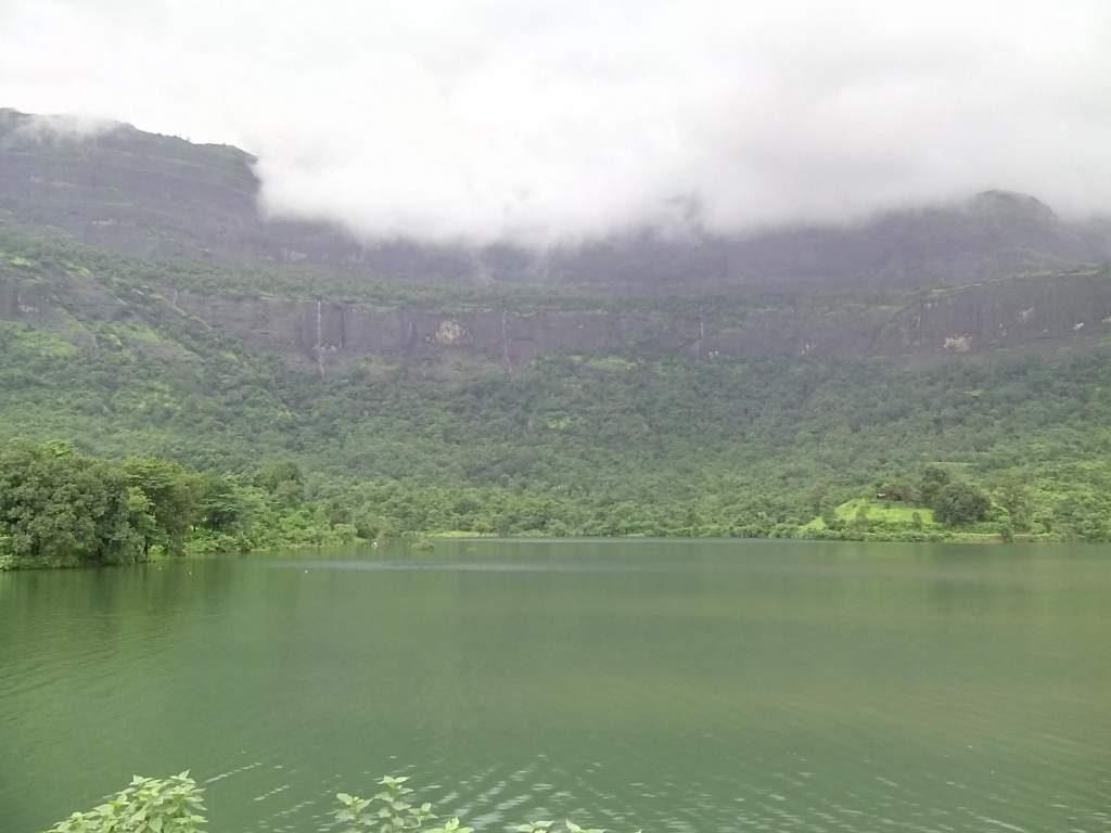 Mountains Behind Dam