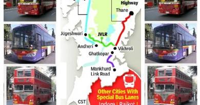 Dedicated Bus Lane Routes