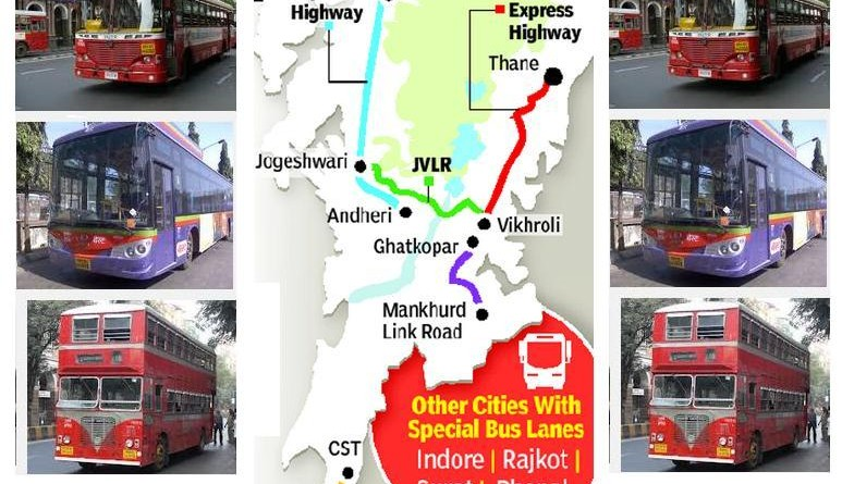 Dedicated Bus Lane Routes