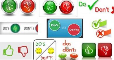 Do Don'ts Dangers