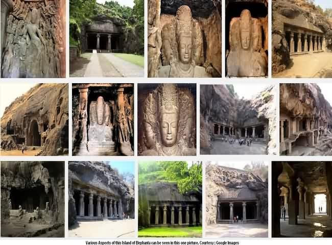 Inside Elephanta Caves