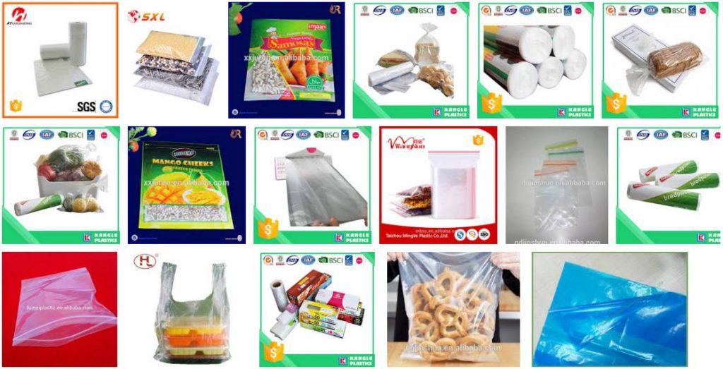 Food Grade Virgin Plastic Bags