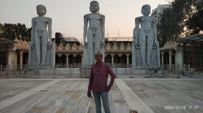 Front View Trimurti Statues