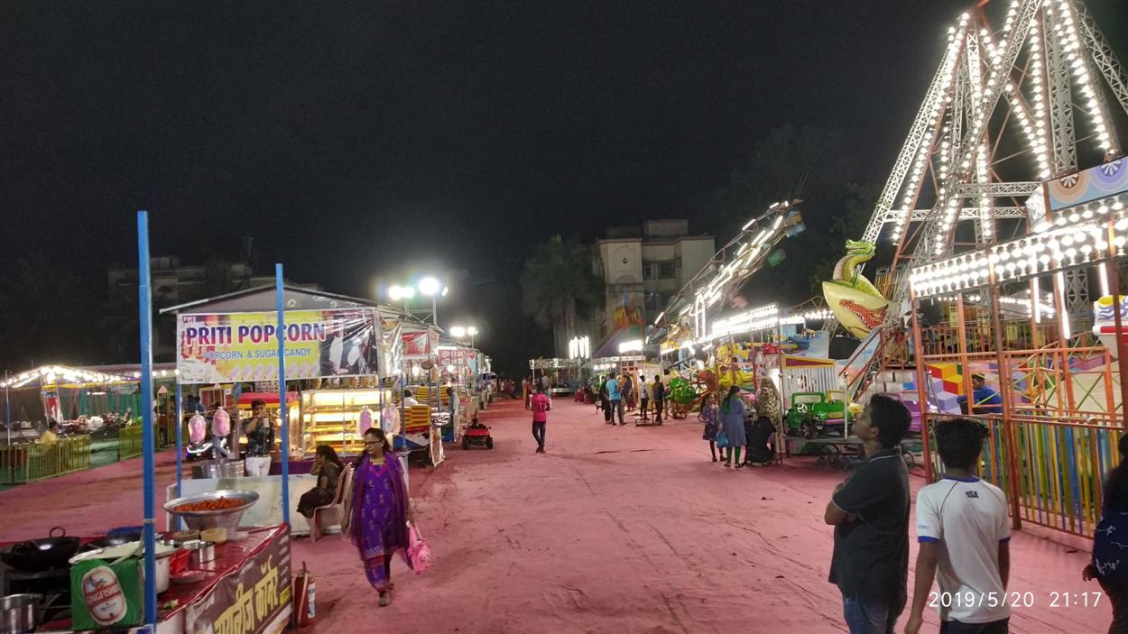 Inside View of Fun Fair Mela Setup