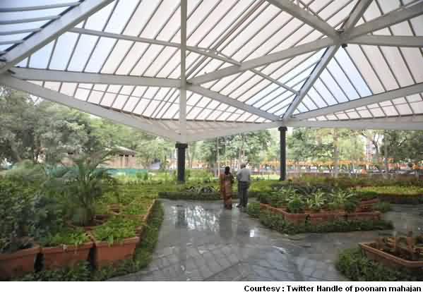 Prism Section Inside Garden
