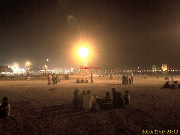 Girgaon Chowpatty Night View