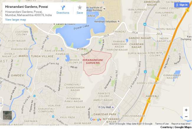 Hiranandani Powai Map