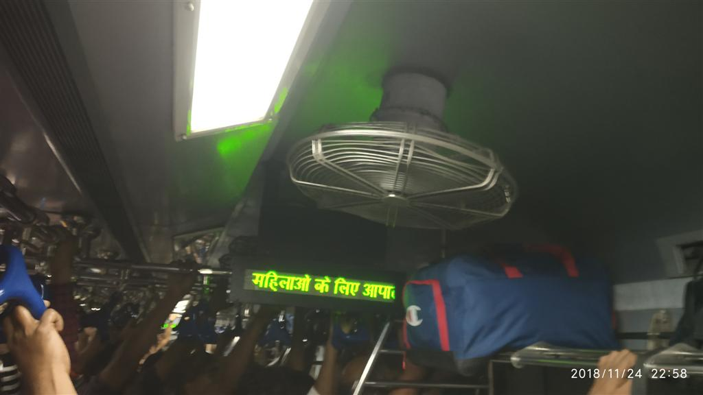 Indicators Inside Train