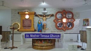 Inside Front View Of Church