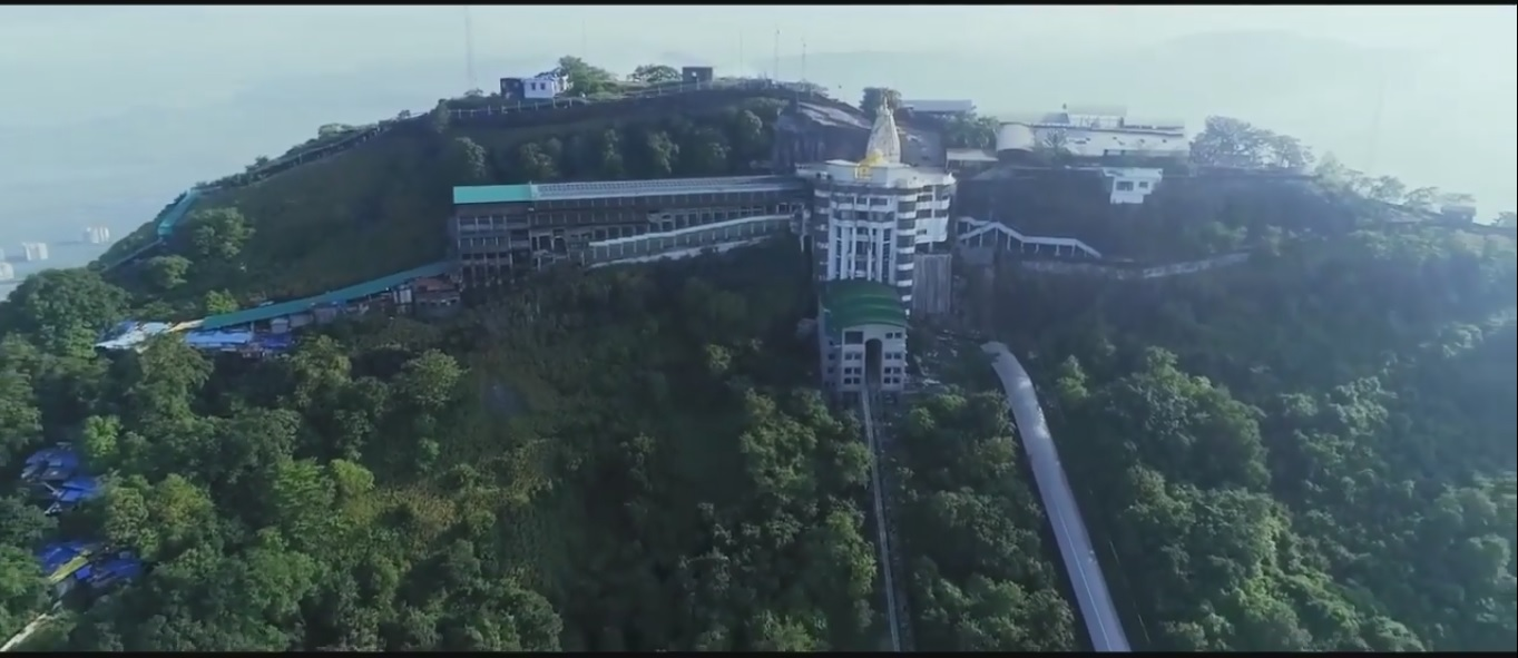 Jivdani Temple Virar Aerial