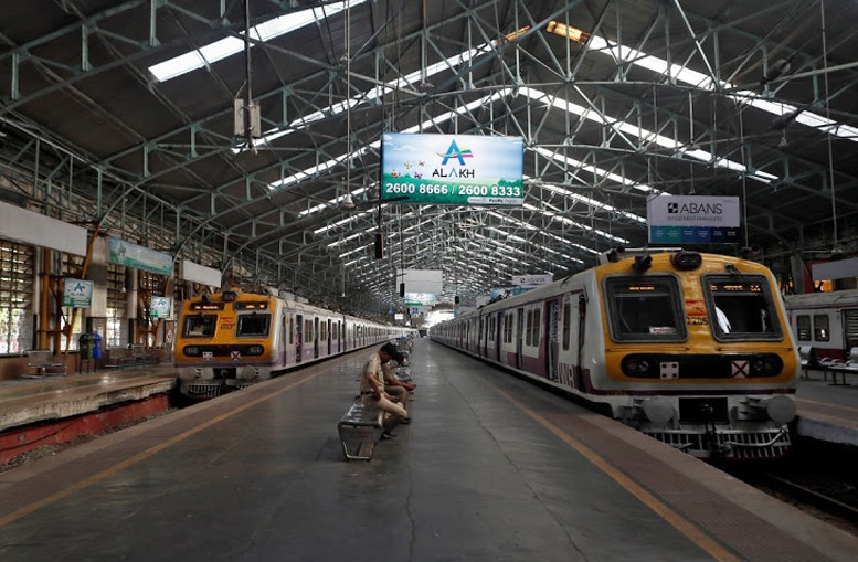 Local Trains Stopped at Churchgate Station
