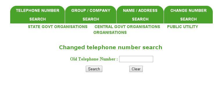 MTNL Search by Changed Number